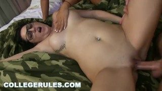 COLLEGE RULES – Dorm Room Orgy With A Bunch Of Naked & Horny Teens